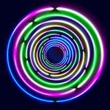 五颜六色发光敲响- eps10抽象背景艺术 免版税库存照片
