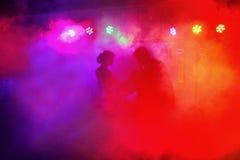 五颜六色和生动的阶段聚光灯 库存图片