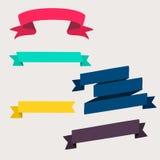 五颜六色和装饰的纸横幅 图库摄影