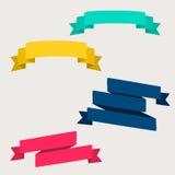 五颜六色和装饰的纸横幅 免版税库存图片