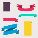 五颜六色和装饰的纸横幅 库存照片