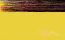 五颜六色和黄色小故障艺术背景 免版税库存图片