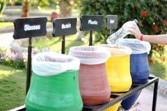 五颜六色回收容器 图库摄影