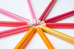 五颜六色多色铅笔 免版税库存图片