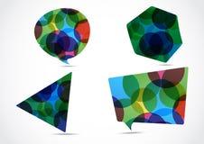 五颜六色套大讲话的泡影 免版税库存图片