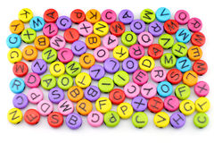 五颜六色字母表 免版税库存图片