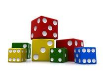 五颜六色把集切成小方块 免版税库存图片