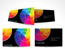 五颜六色抽象的名片 库存图片