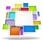 五颜六色抽象的横幅 库存图片