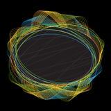 五颜六色抽象的横幅 库存例证