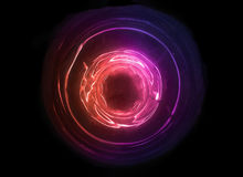 五颜六色抽象的球 与空间的新技术概念 创新发展 库存照片