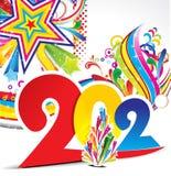 五颜六色抽象的背景展开新年度 免版税库存图片