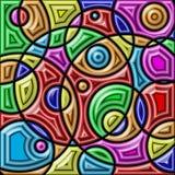 五颜六色抽象的背景 几何形状 免版税库存照片