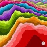 五颜六色抽象的背景 马赛克传染媒介 免版税库存照片
