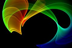 五颜六色抽象的背景 库存例证
