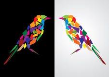 五颜六色抽象的鸟 免版税库存照片