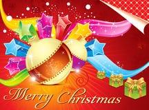 五颜六色抽象背景的圣诞节 库存图片