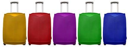 五颜六色旅行的袋子- 免版税库存图片