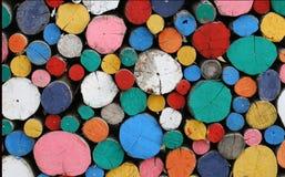 五颜六色木油漆 免版税库存图片