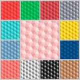 五颜六色样式的六角形 库存照片
