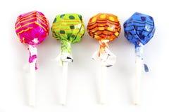 五颜六色棒棒糖的糖果 免版税库存图片