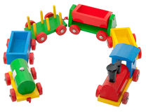 五颜六色模型铁路木 免版税库存图片