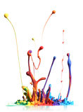 五颜六色油漆飞溅 向量例证