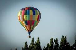 五颜六色热空气的气球 库存照片