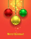 五颜六色球的圣诞节 套现实装饰 皇族释放例证