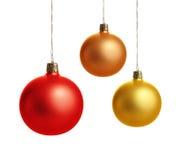 五颜六色球的圣诞节 免版税库存图片