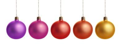 五颜六色球的圣诞节 免版税库存照片