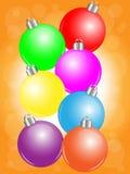 五颜六色球的圣诞节 皇族释放例证