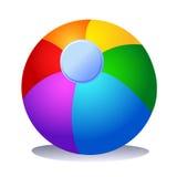 五颜六色球的海滩 免版税库存图片