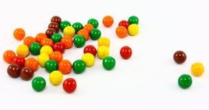 五颜六色球的糖果 库存图片