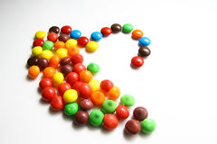 五颜六色甜点或糖果 库存照片