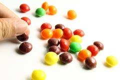 五颜六色甜点或糖果 免版税库存图片