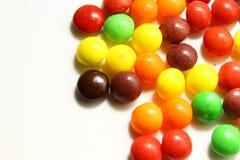 五颜六色甜点或糖果 免版税库存照片