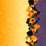 五颜六色的万圣节糖果背景 免版税图库摄影