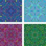 五颜六色的万花筒三角背景集合 免版税库存照片