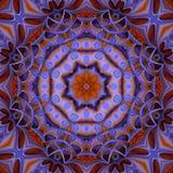 五颜六色的万花筒样式紫色和金子 库存图片