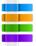 五颜六色的万维网贴纸、标签和标签 免版税库存图片