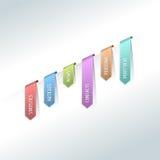 五颜六色的万维网贴纸、标签和标签 库存例证