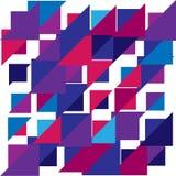 五颜六色的三角几何疏散背景 向量 免版税库存图片