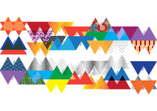 五颜六色的三角摘要背景例证 免版税库存照片