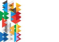 五颜六色的三角摘要背景例证 库存图片