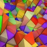 五颜六色的三角背景 图库摄影