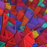 五颜六色的三角背景 免版税图库摄影