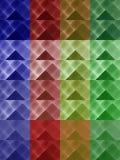 五颜六色的三角背景 库存图片