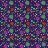 五颜六色的下雨的花纹花样 图库摄影