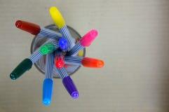 五颜六色的不可思议的笔 免版税库存照片